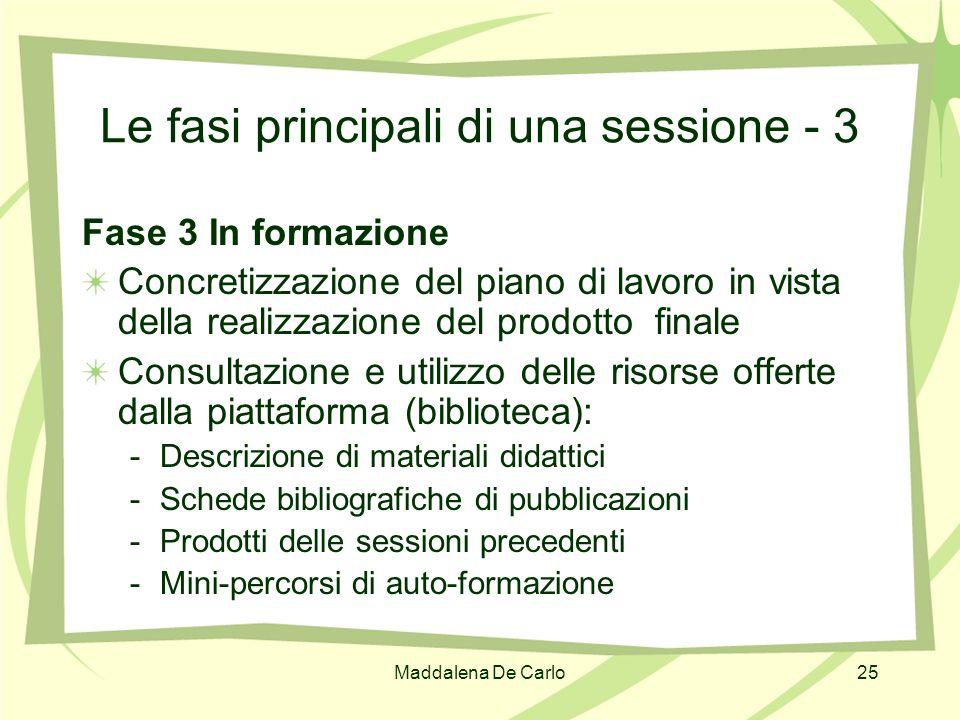 Le fasi principali di una sessione - 3