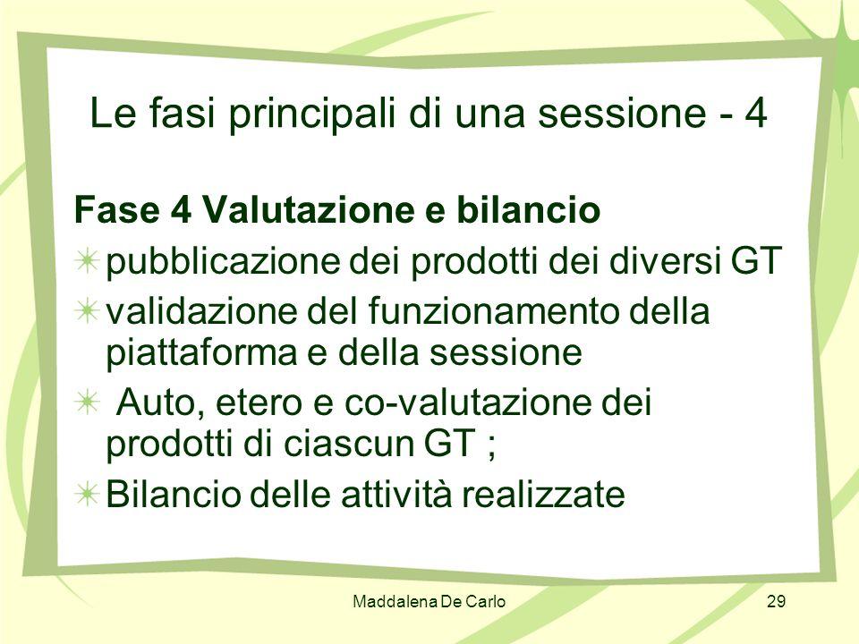 Le fasi principali di una sessione - 4