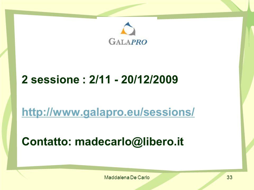 Contatto: madecarlo@libero.it