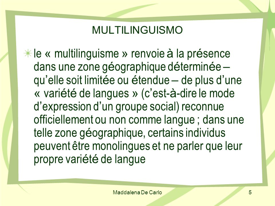 MULTILINGUISMO