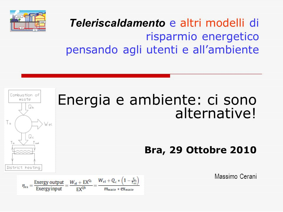 Energia e ambiente: ci sono alternative!