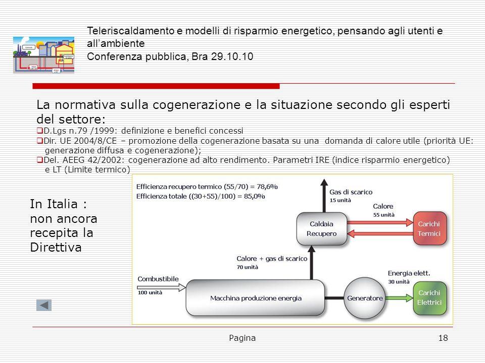 La normativa sulla cogenerazione e la situazione secondo gli esperti