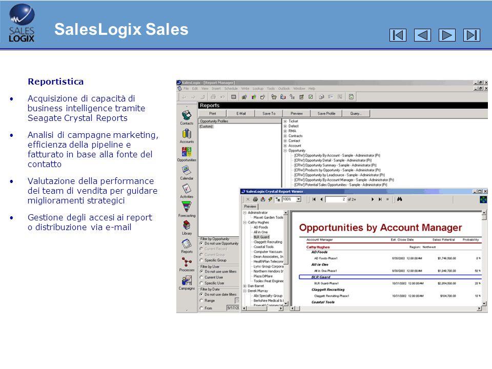 SalesLogix Sales Reportistica