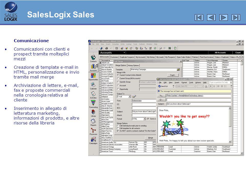 SalesLogix Sales Comunicazione