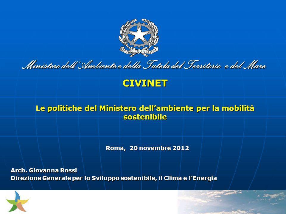 Le politiche del Ministero dell'ambiente per la mobilità sostenibile