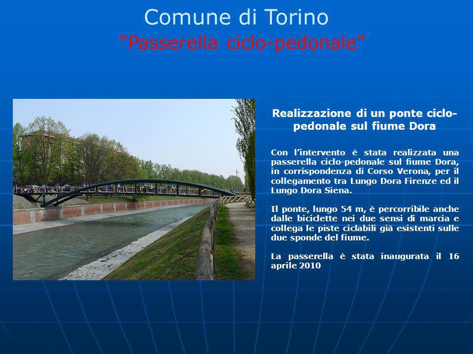 Realizzazione di un ponte ciclo-pedonale sul fiume Dora