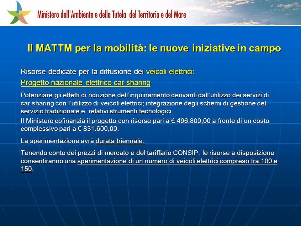 Il MATTM per la mobilità: le nuove iniziative in campo