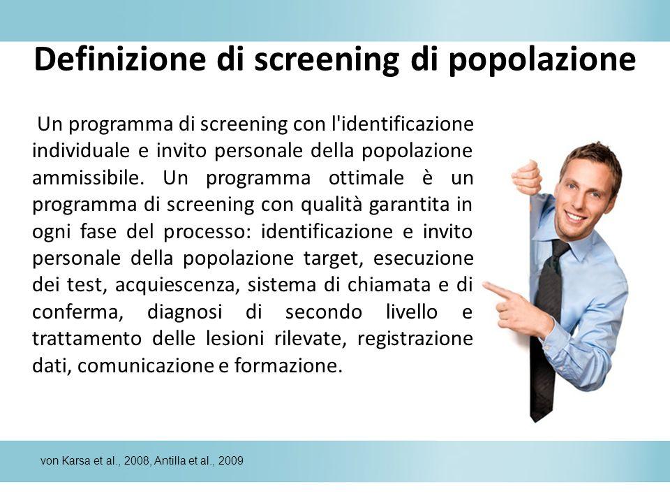 Definizione di screening di popolazione