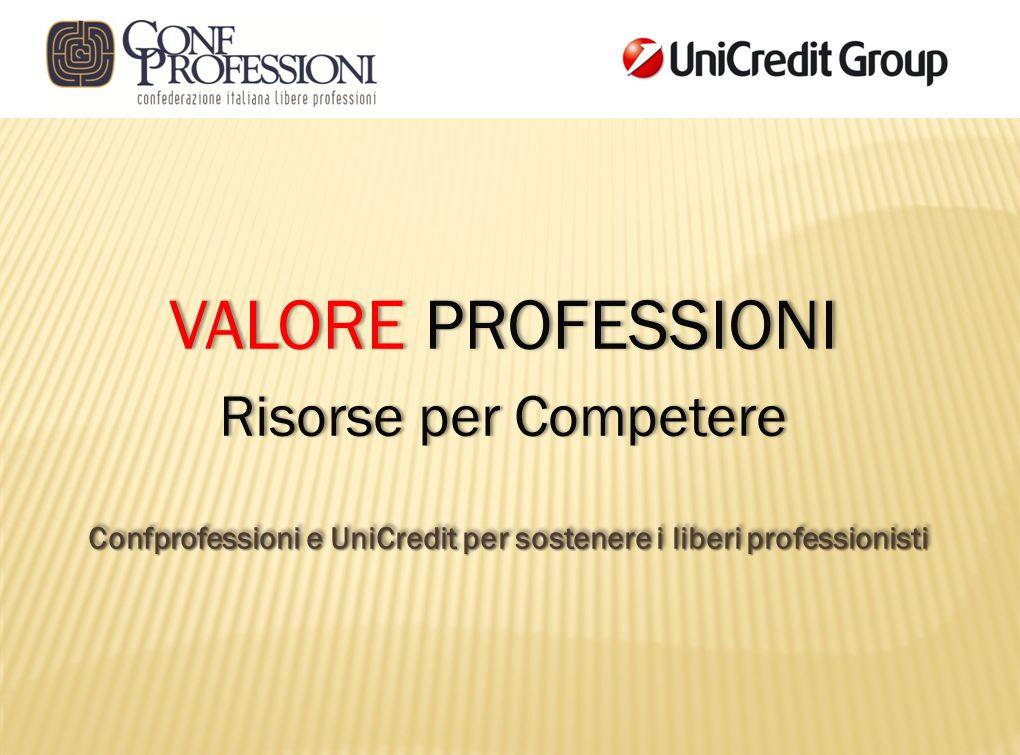 Confprofessioni e UniCredit per sostenere i liberi professionisti