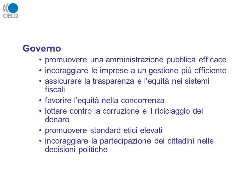 Governo promuovere una amministrazione pubblica efficace