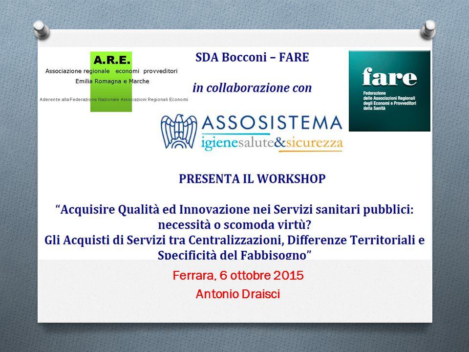 Ferrara, 6 ottobre 2015 Antonio Draisci