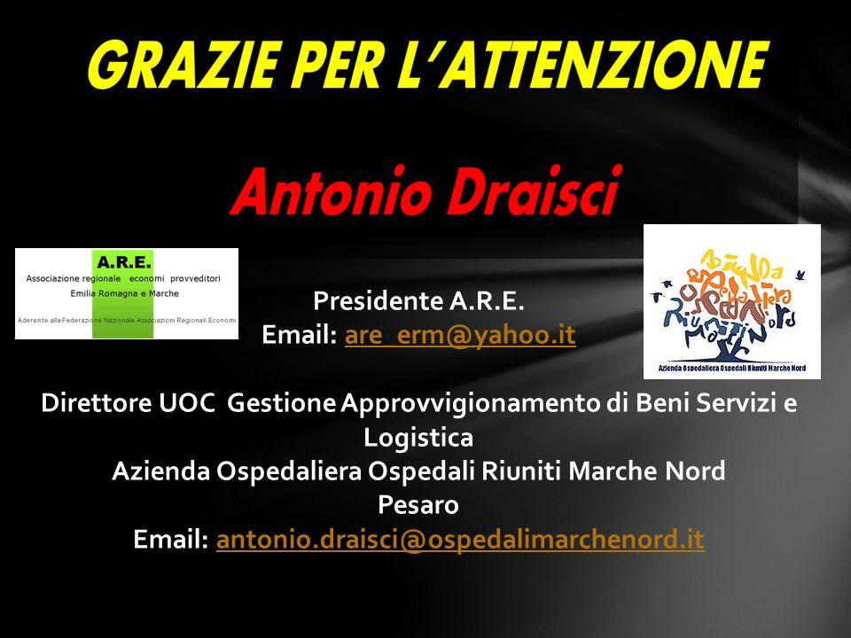 Direttore UOC Gestione Approvvigionamento di Beni Servizi e Logistica