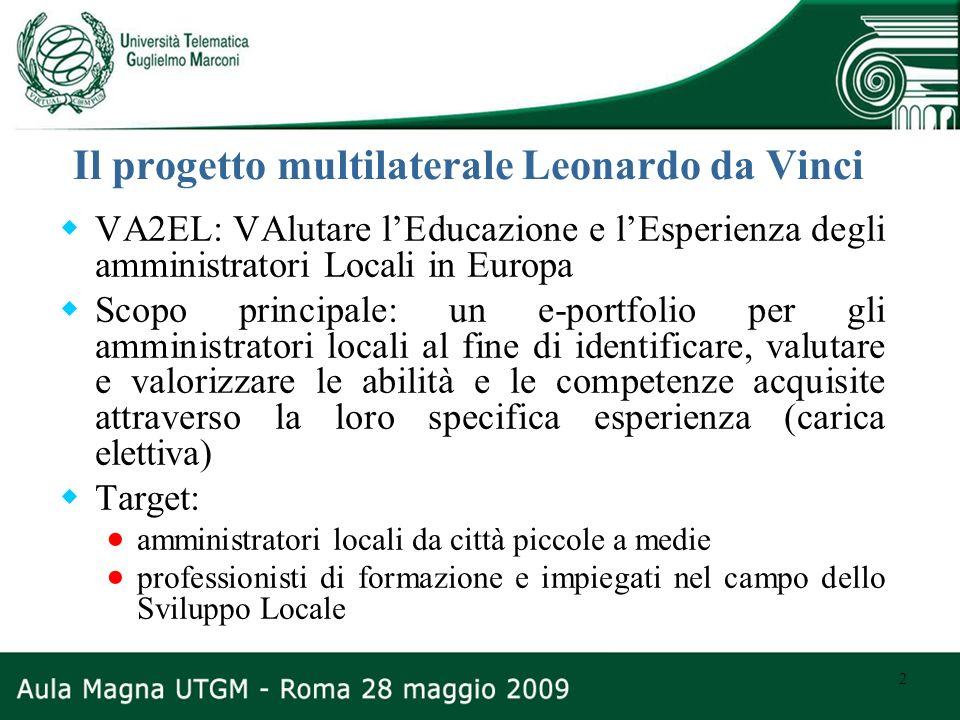 Il progetto multilaterale Leonardo da Vinci