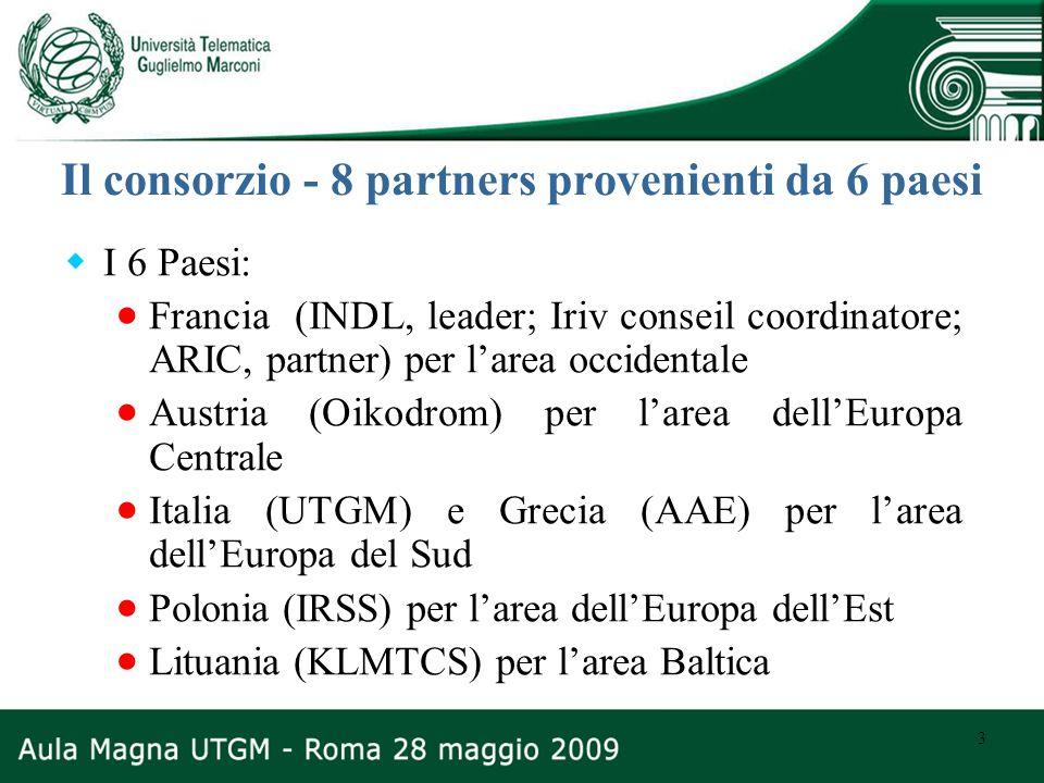 Il consorzio - 8 partners provenienti da 6 paesi