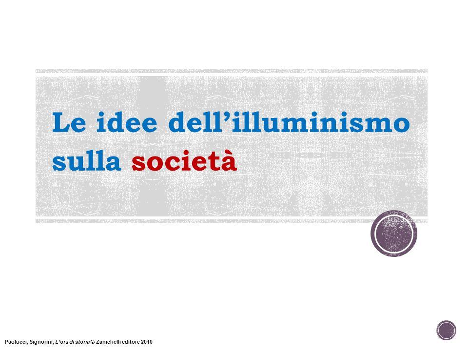 Le idee dell'illuminismo sulla società