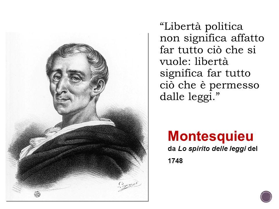 Montesquieu da Lo spirito delle leggi del 1748