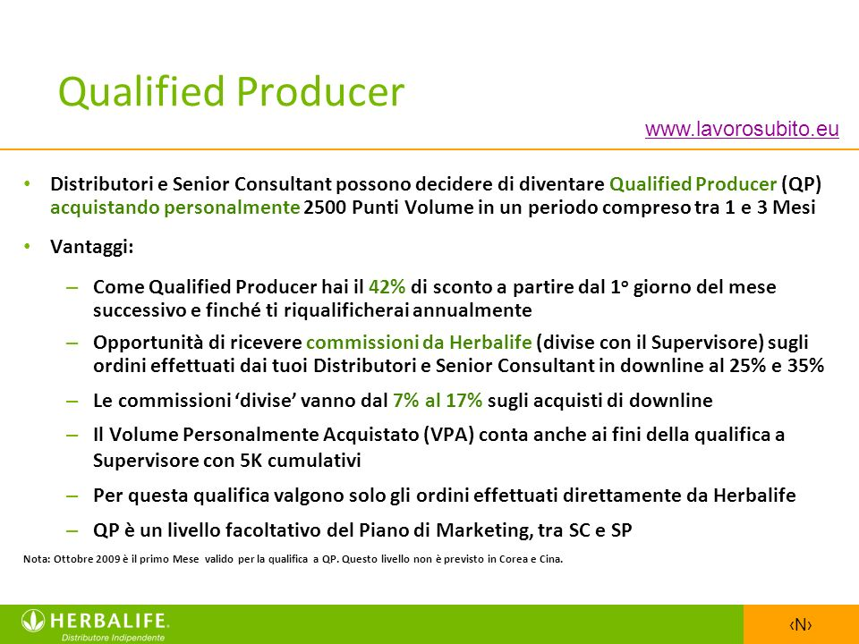 Qualified Producer www.lavorosubito.eu