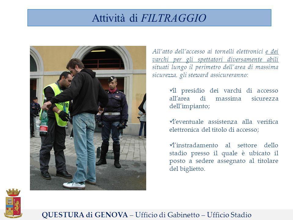 Attività di FILTRAGGIO