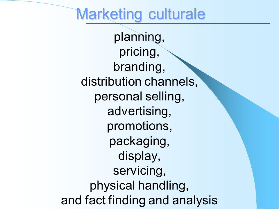 Marketing culturale planning, pricing, branding,