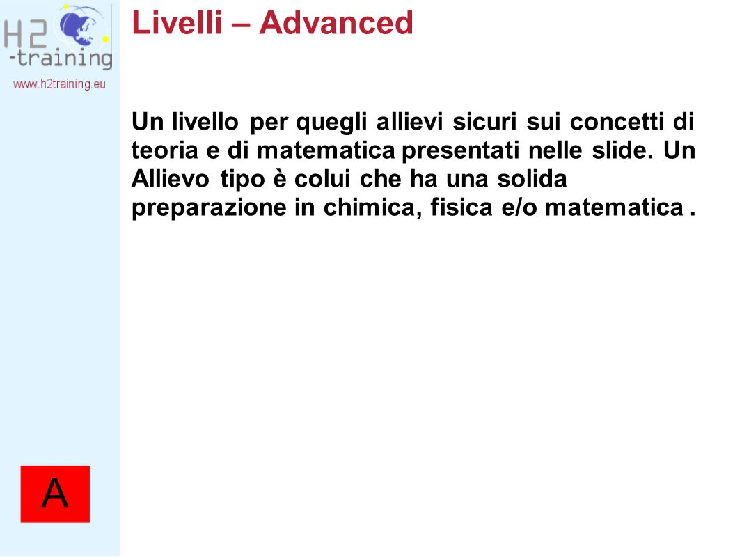 Livelli – Advanced