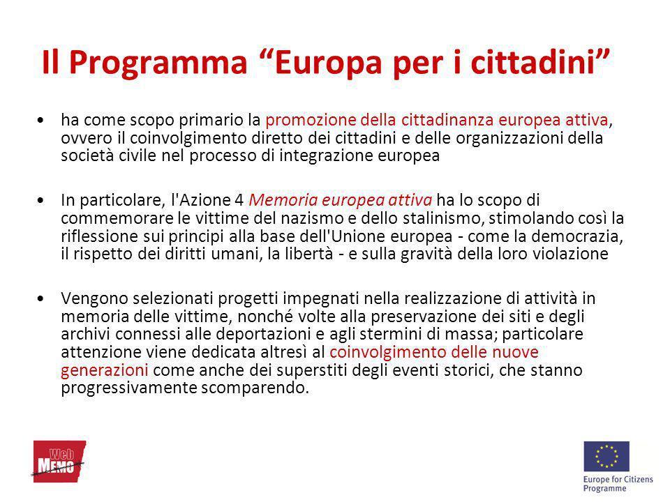 Il Programma Europa per i cittadini