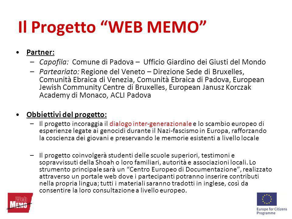 Il Progetto WEB MEMO Partner: