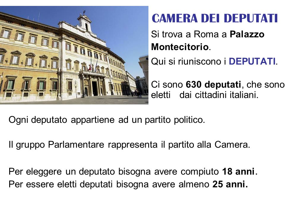 Il parlamento il luogo dove si riuniscono i parlamentari for Camera dei deputati on line