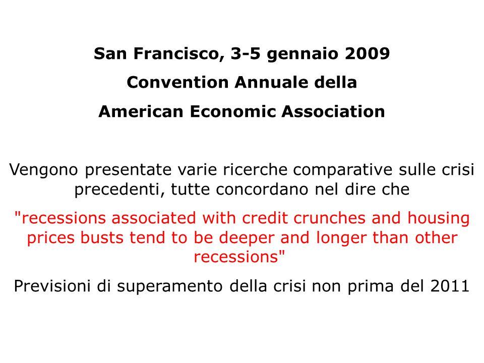 San Francisco, 3-5 gennaio 2009 Convention Annuale della