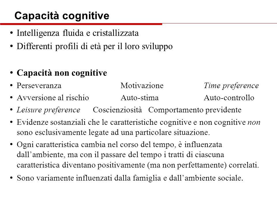 Capacità cognitive Intelligenza fluida e cristallizzata