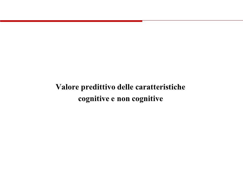 Valore predittivo delle caratteristiche cognitive e non cognitive
