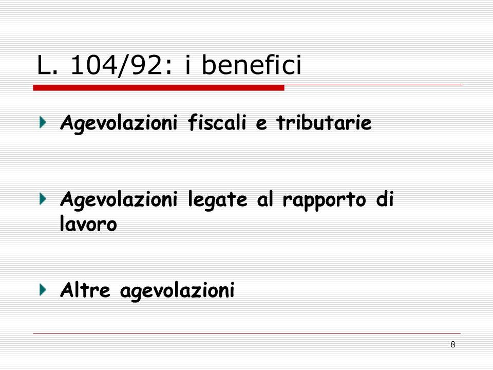 Legge quadro sull handicap carta dei diritti dell for Legge 104 agevolazioni fiscali elettrodomestici