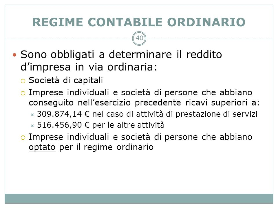 REGIME CONTABILE ORDINARIO
