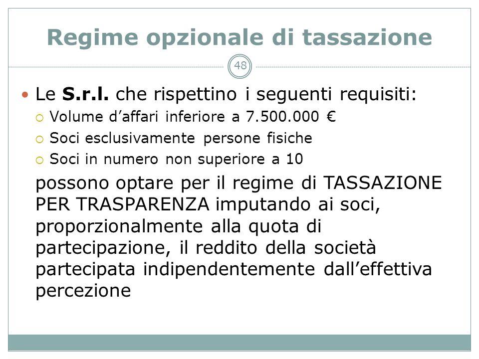 Regime opzionale di tassazione