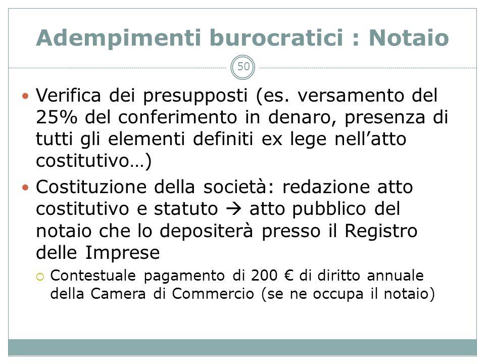 Adempimenti burocratici : Notaio