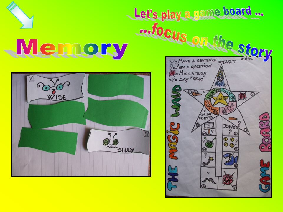 Let s play a game board ... ...focus on the story Memory
