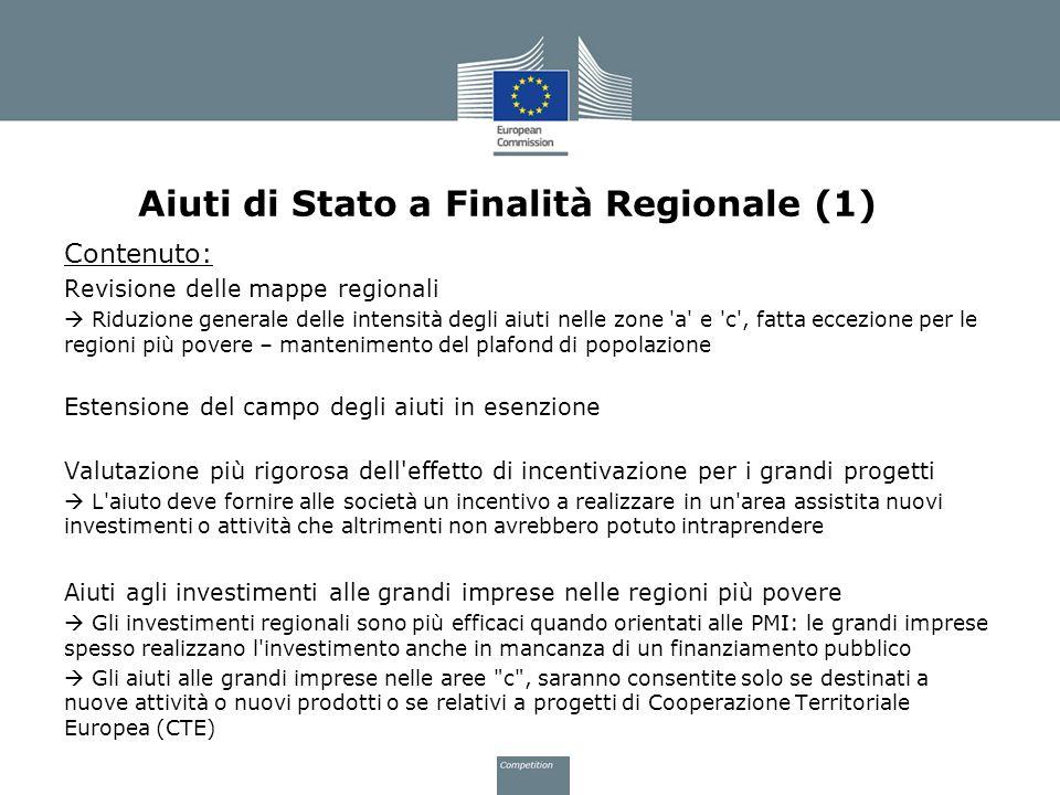 Aiuti di Stato a Finalità Regionale (1)