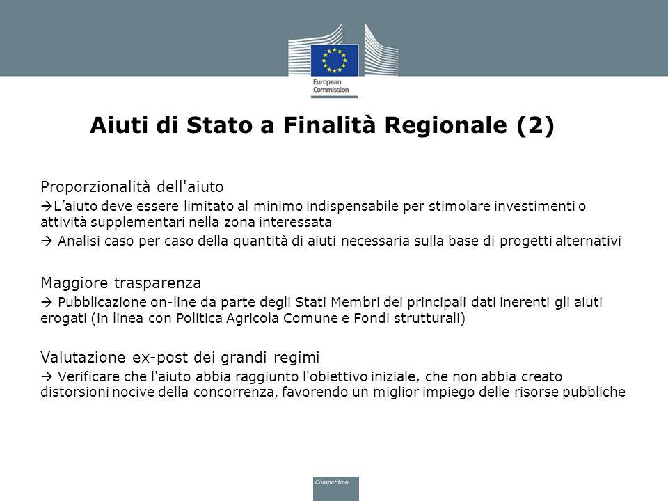 Aiuti di Stato a Finalità Regionale (2)