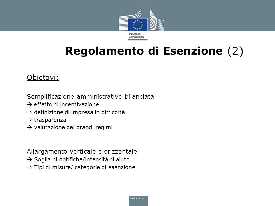 Regolamento di Esenzione (2)