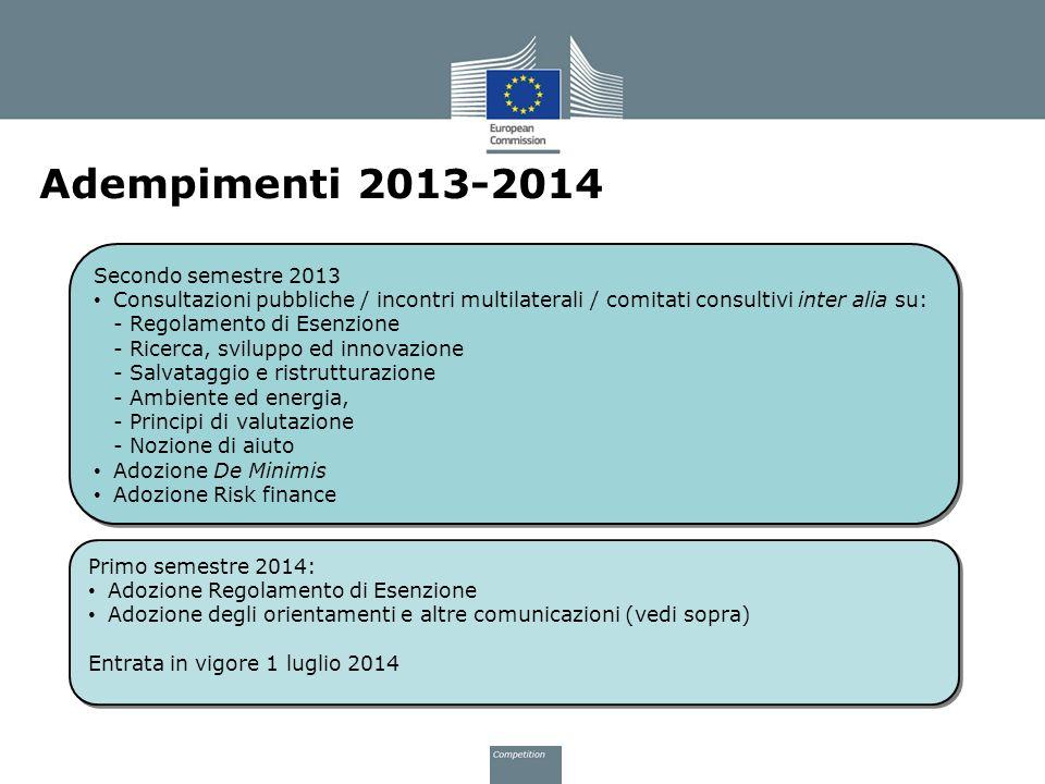 Adempimenti 2013-2014 Secondo semestre 2013