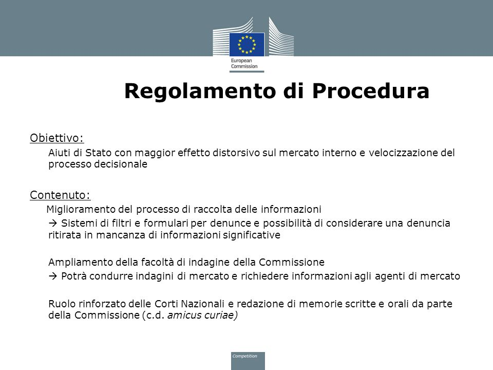 Regolamento di Procedura