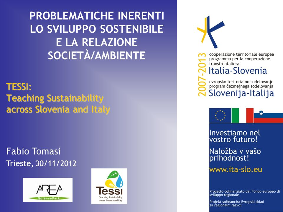TESSI: Teaching Sustainability across Slovenia and Italy