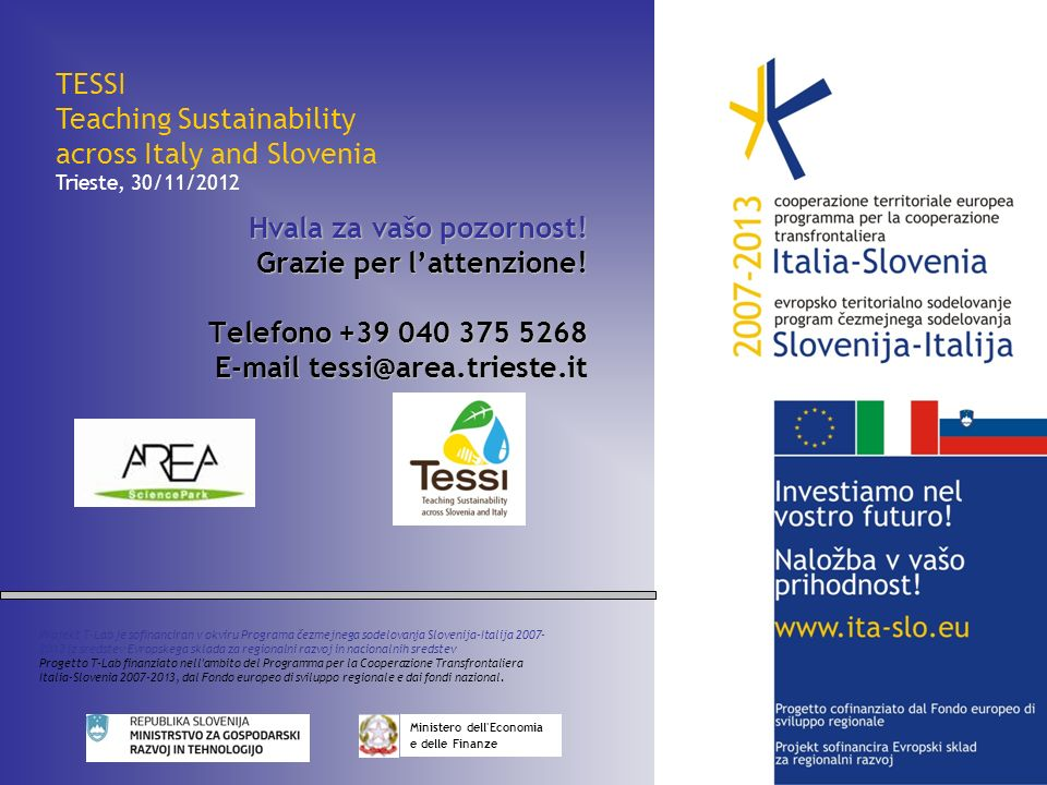 Teaching Sustainability across Italy and Slovenia