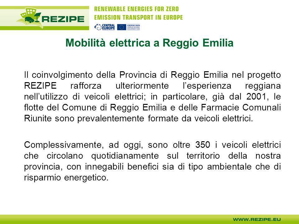 Mobilità elettrica a Reggio Emilia