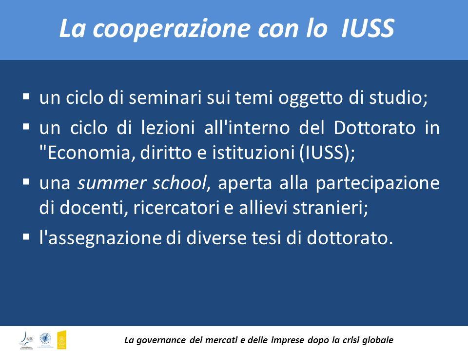 La cooperazione con lo IUSS