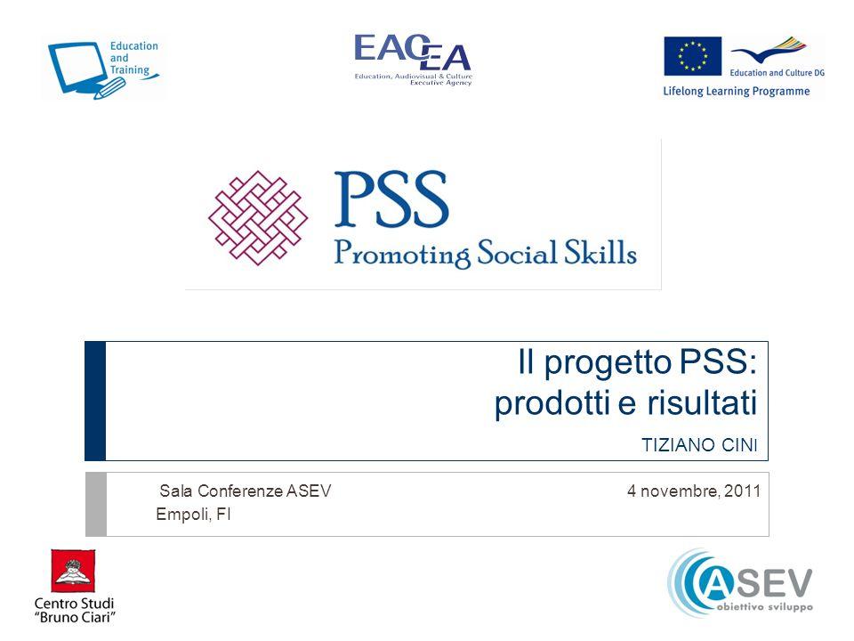 Il progetto PSS: prodotti e risultati