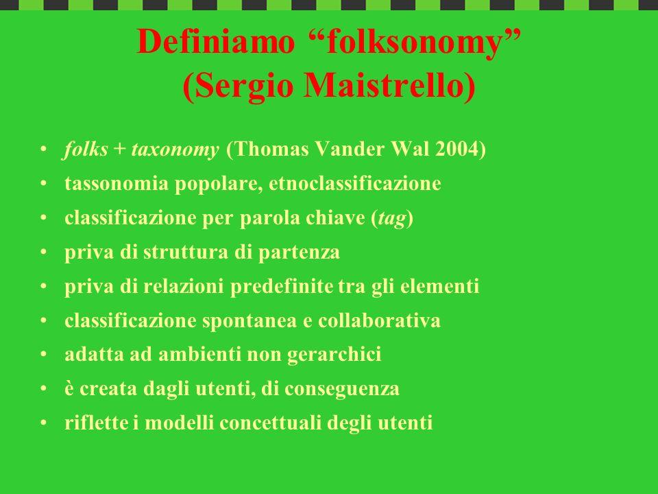 Definiamo folksonomy (Sergio Maistrello)