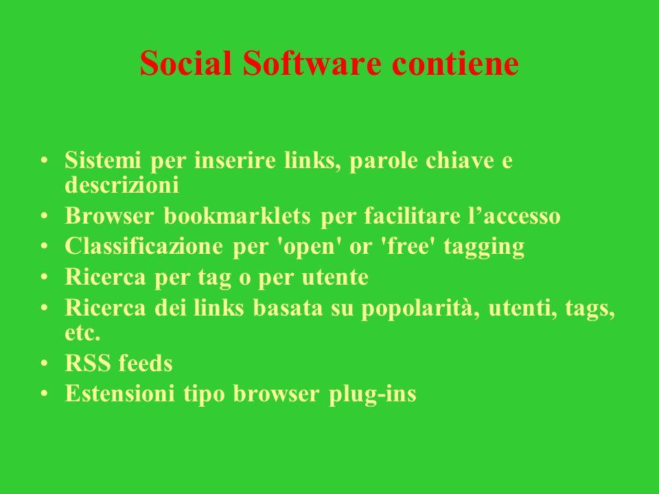 Social Software contiene