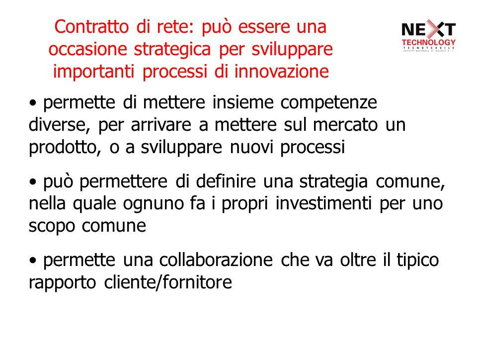 Contratto di rete: può essere una occasione strategica per sviluppare importanti processi di innovazione