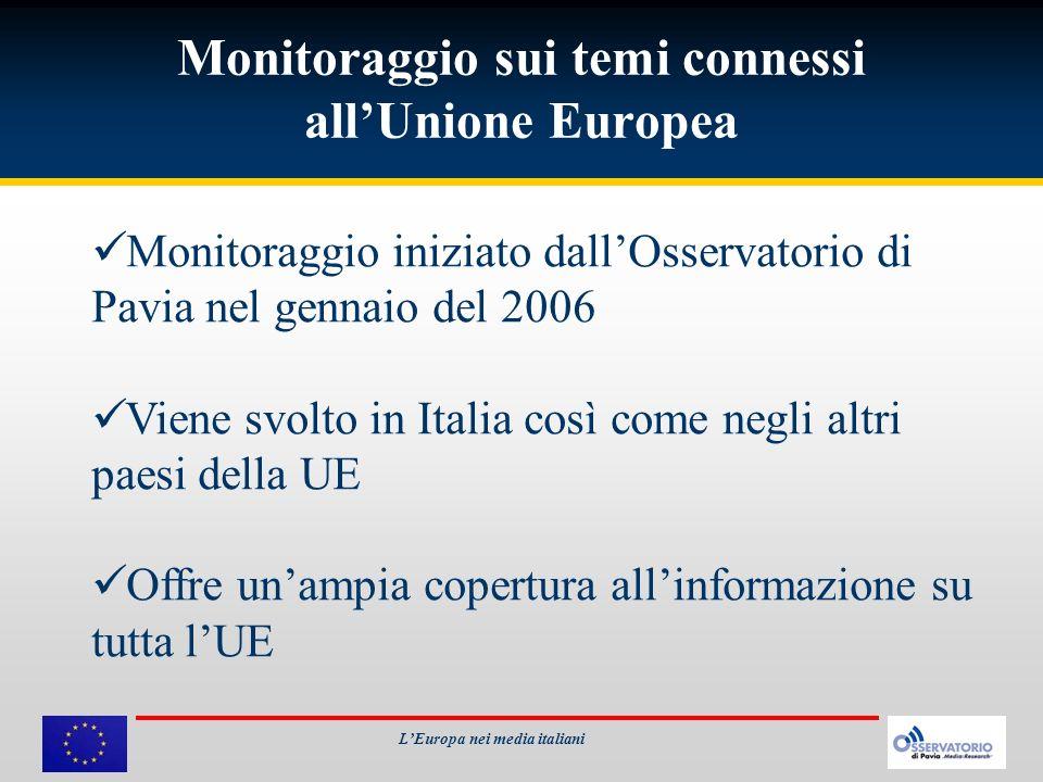 Monitoraggio sui temi connessi all'Unione Europea