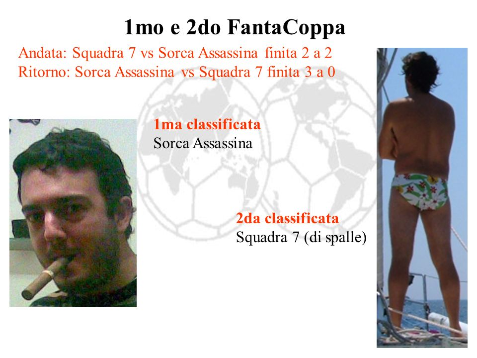 1mo e 2do FantaCoppa Andata: Squadra 7 vs Sorca Assassina finita 2 a 2